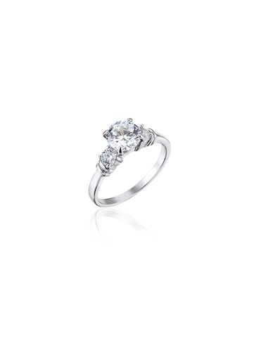 Tophills Diamond Co. 1,30 Ct Pırlanta Efekt  Altın Versus Yüzük Renkli